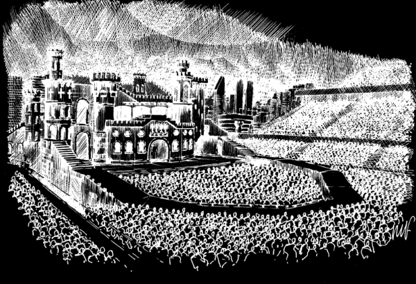 Lady GAGA Born This Way Ball stage