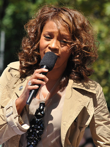 Whitney Houston - Central Park, NYC September 1, 2009 (Photo credit: asterix611)