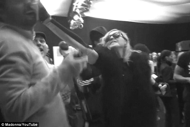 Madonna Throws A Plate Of Cake At Her Mangers Face!!!! (Video and Photos