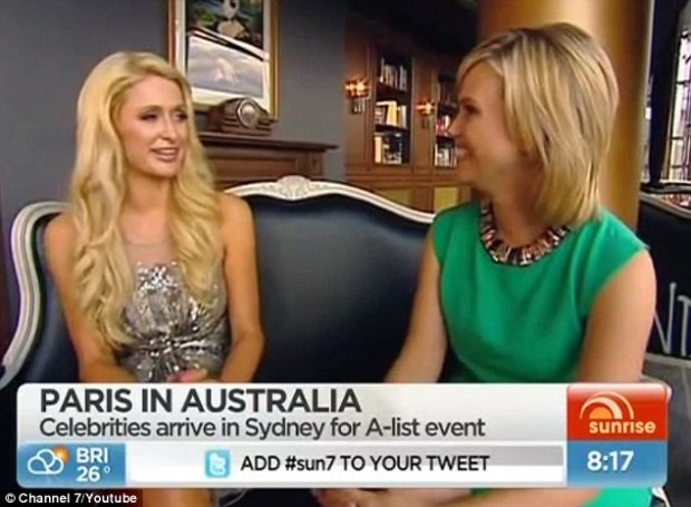 paris hilton bans news from interview