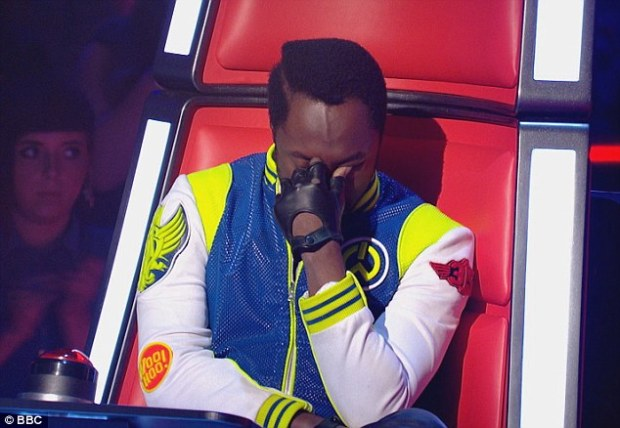 Will.i.am crying on the voice uk