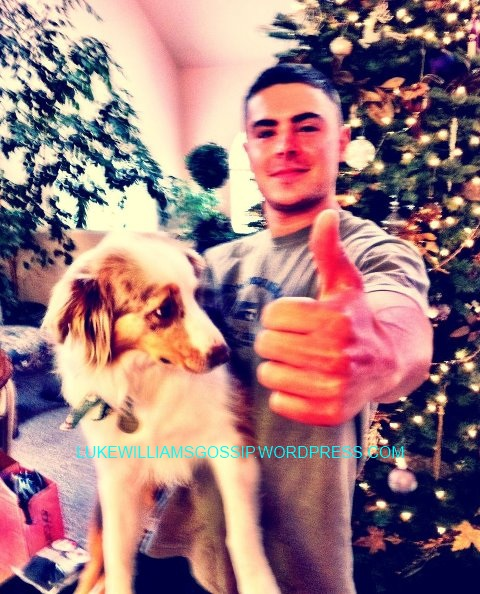 Zac Efron Shows Of His Puppy!