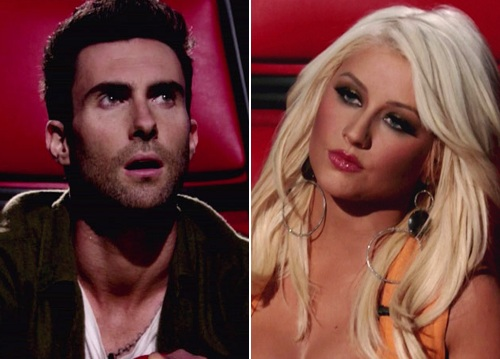Christina Aguilera And Adam Levine Have A Massive Row On The Voice