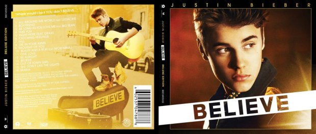 justin bieber beleve official track list and cover cd art work