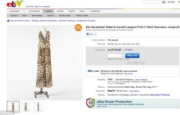 Kim And Kourtney Kardashian Sell Their Designer Cloths (That They Have Won) On Ebay