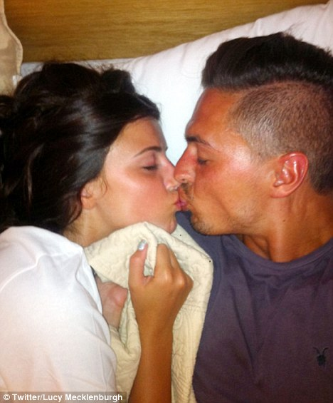 Lucy Mecklenburgh And Rumoured Husband-To-Be Mario Falcone Kiss Goodnight In Marbella
