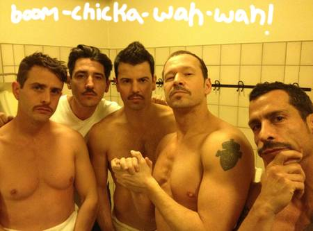 Mark Wahlberg Tweets Naked Photo Of The New Kids On The Block! In The Shower!