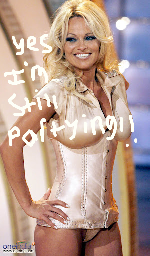 Pamela Anderson Still Loves To Party At The Age Of 45