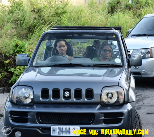 Rihanna Takes Oprah Winfrey For A Spin In Her Car Around Barbados!