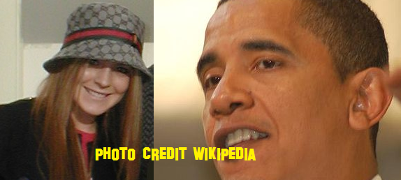 Lindsay Lohan and Barack Obama