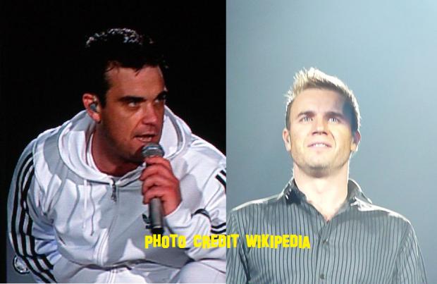 Robbie Williams And Gary Barlow 2