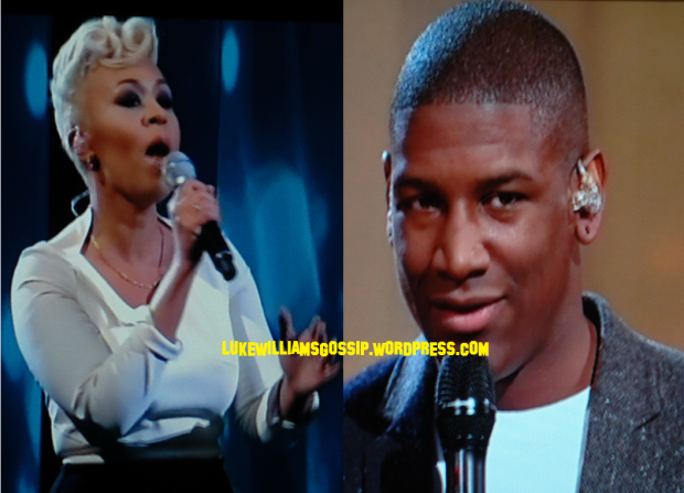 Emeli Sande and  Labrinth on the x factor 2012