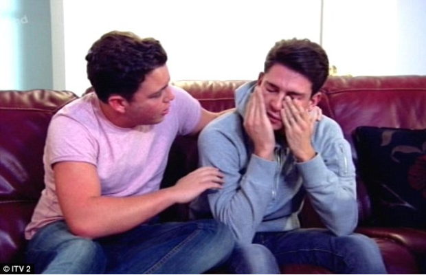 Joey Essex also showed off his emotional side on Wednesday night's episode as he cried about his continuous arguments with girlfriend Sam