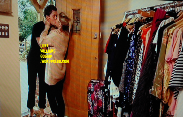 Joey Essex and Sam Fairs kissing as they moved in with each other