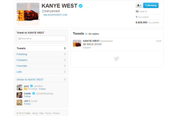 Kanye West Says Be Back Soon To Twitter!