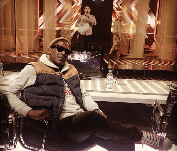 Labrinth tweeted a photo of him sitting in the judges seats