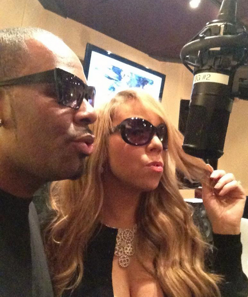 Mariah Carey Is In The Studio With R. Kelly!