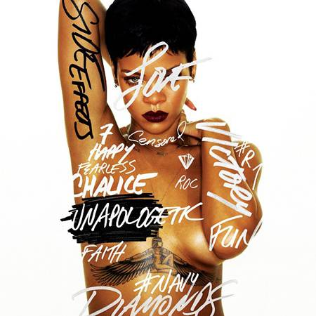 Rihanna Goes Naked In New Unapologetic Album Cover!