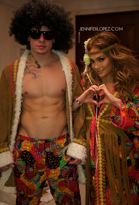 Jennifer Lopez And Casper Smart Go As Hippies For Halloween!