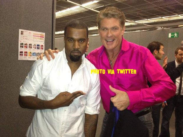 Taylor Swift And Kanye West Hang Out With David Hasselhoff At The MTV European Music Awards In Germany