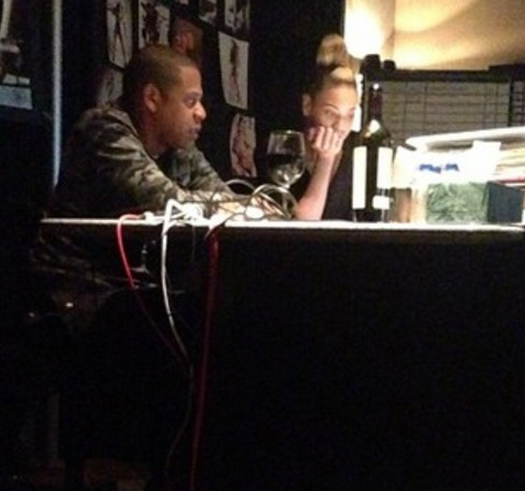 Beyoncé Goes Back To The Recording Studio With Jay-Z!