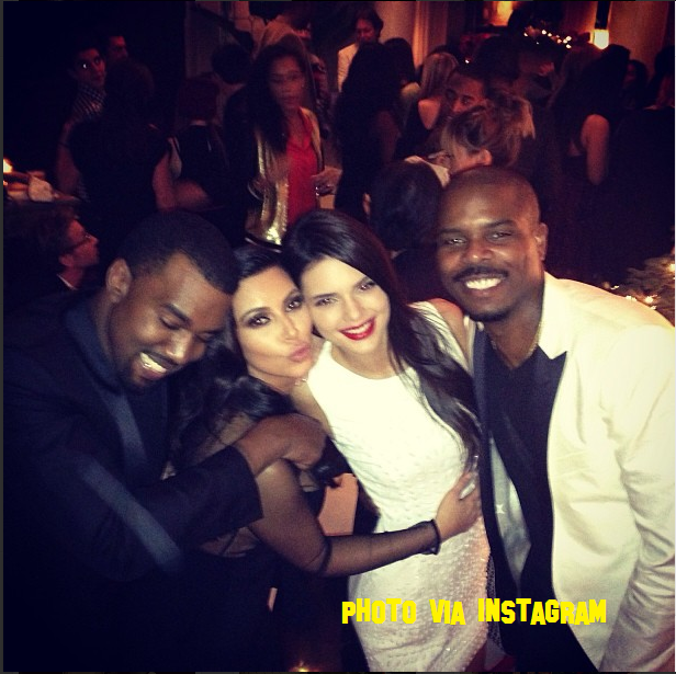 Kanye West Finally Smiles At The Kardashian Krismas Party!