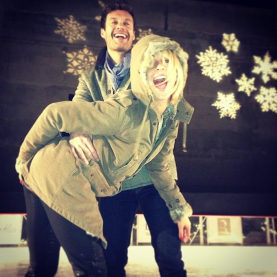 Ryan Seacrest & Julianne Hough Go Ice Skating