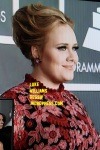 adele at the grammy awards 2013 red carpet