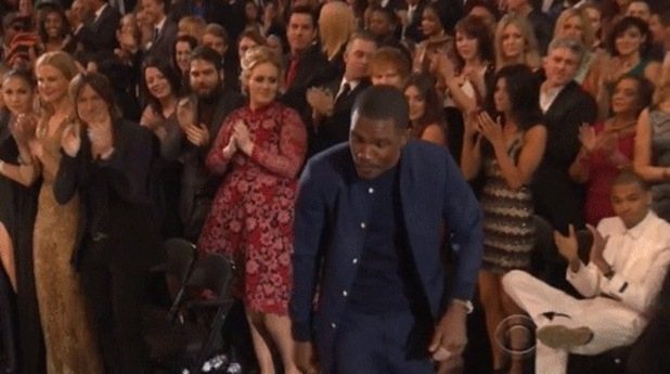 Adele Spotted Shouting At Chris Brown At The Grammy Awards