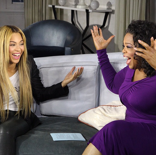 Oprah Winfrey Shows Photo From Her Interview With Beyoncé