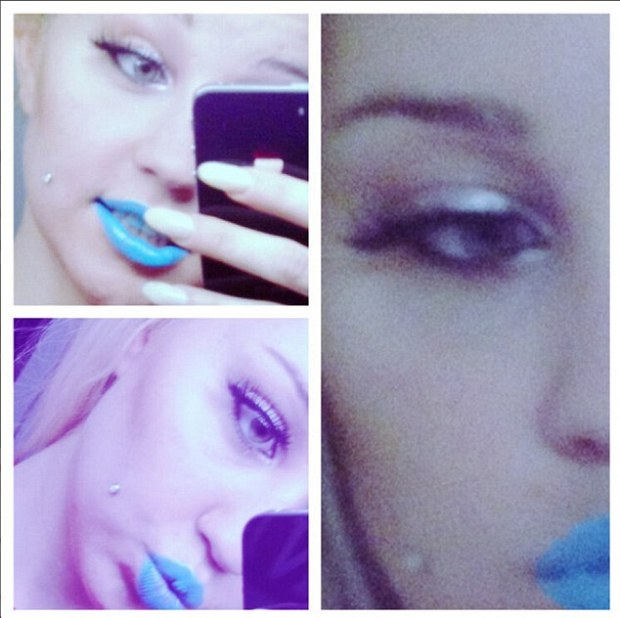Amanda Bynes Goes Blue In New Selfies!