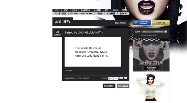 Jessie J Official Website Get's Hacked! SEE PHOTO HERE!!