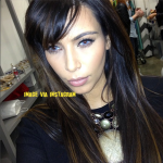 kim kardashian light blue eyes photos here