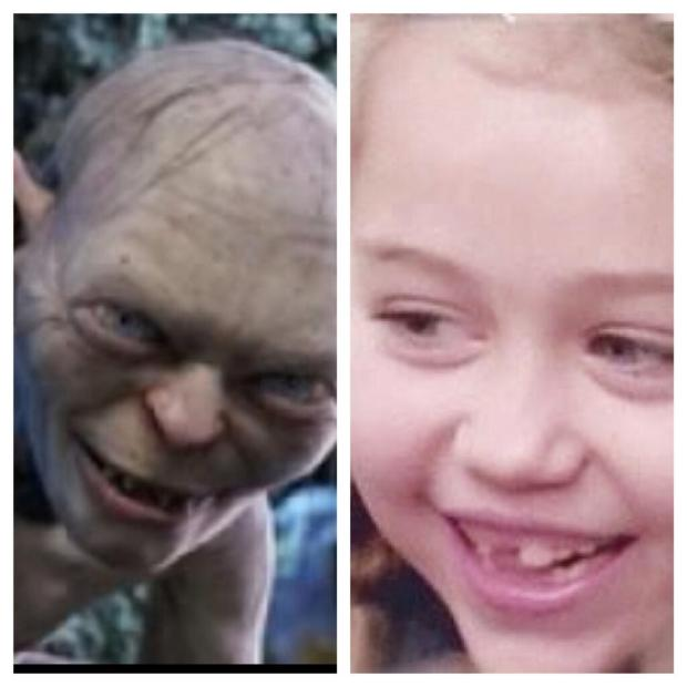 Miley Cyrus Thinks When She Was Younger She Looked Like The Hobbit!