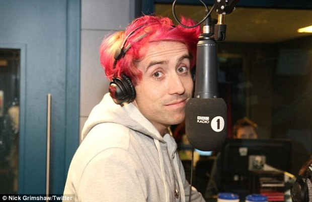 Nick Grimshaw Dyes Hair Pink And Yellow As His Radio Station Raises More Than  £261,000 for Comic Relief