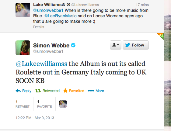 simon webbes tweet to luke williams gossip