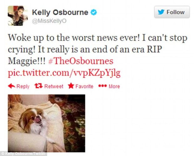 Sharon Osbourne Favourite Dog Dies Maggie At Age 16!