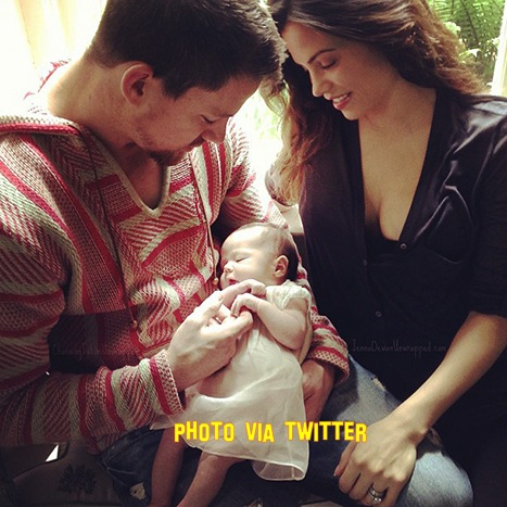 Channing Tatum Post's Photo Of New Born Baby Before The Paps Get A Pic!