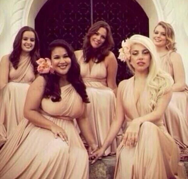 Lady Gaga Is A Bridesmaid For Friends Wedding!