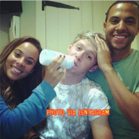 The Saturday's Rochelle Humes And JLS' Marvin Bottel Feed One Direction's Niall Horan