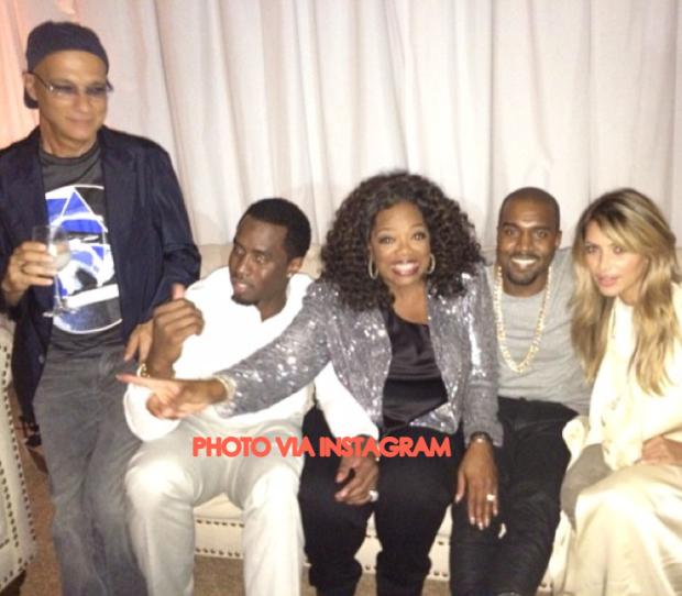 Kim Kardashian And Kanye West Pose With Oprah Winfrey