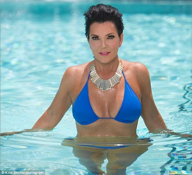 Kris Jenner Poses In Bikini